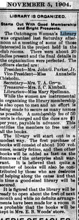Screenshot from The Ontonagon Herald, November 1904